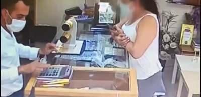 Kuyumcudakİ hırsızlık anı kamerada