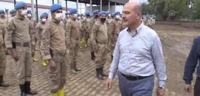 Bakan Soylu jandarma personeline teşekkür etti
