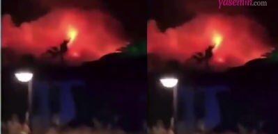 Songül Karlı Fethiye'deki yangını görüntüledi!