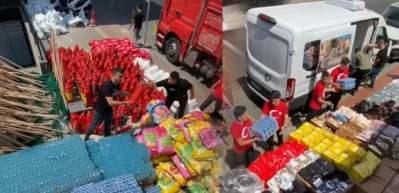 Czn Burak'tan Antalya'da ki yangına gıda yardımı