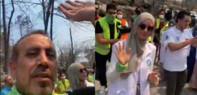 Haluk Levent ve Gamze Özçelik Manavgat'ta yangının bittiği noktaları gezdi