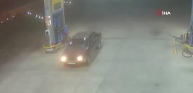Benzin istasyonunda facianın eşiğinden dönüldü