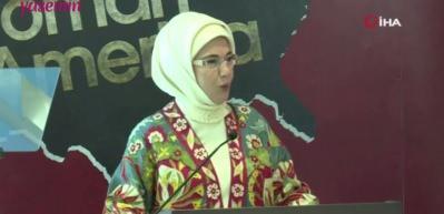 """""""Osmanlı'nın Amerika'sı"""" belgesel filmine Emine Erdoğan'ın konuşması damga vurdu!"""