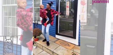 Oğlunun kanseri yenmesini dans ederek kutladı!