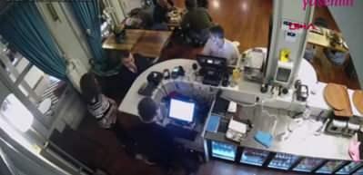 Okan Kurt'un restorandaki kavgası kamerada!