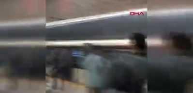 Tramvay'da duman paniği