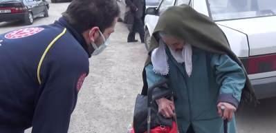 92 yaşındaki Semiha ninenin testi pozitif çıkınca damadı eve almadı