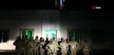 Laçın şehrine 28 yıl sonra Azerbaycan bayrağı dikildi