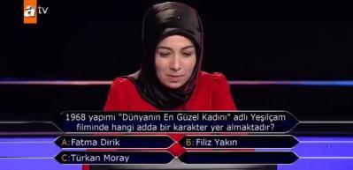 Kim Milyoner Olmak İster'e damga vuran Türkan Moray sorusu