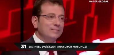 Ekrem İmamoğlu'ndan 'eşcinsel evlilikle' ilgili skandal açıklama