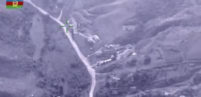Azerbaycan Ermeni ordusuna ait yakıt ve mühimmat depolarını böyle imha etti