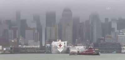 ABD donanmasına ait hastane gemisi New York'tan ayrıldı