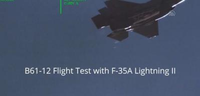 ABD F-35 uçağında B61-12 tipi nükleer bombanın tam boy modelini test etti