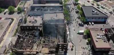 ABD'de olaylar korkutucu boyutlara çıktı! Minneapolis harabeye döndü
