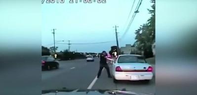 ABD'de polis şiddeti kamerada!