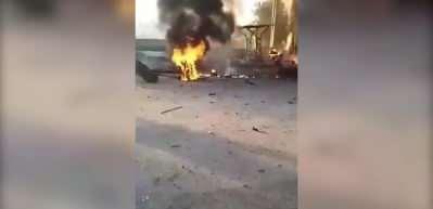 Afrin'de kalleş saldırı! Bomba yüklü araç patladı