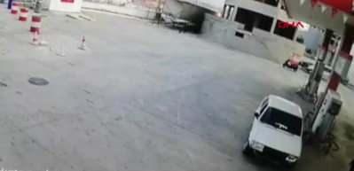 Afyonkarahisar'da dehşet verici olay! Tartıştığı istasyon görevlisine otomobiliyle çarptı