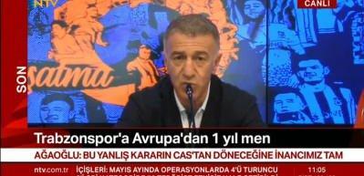 Ahmet Ağaoğlu: Bu karar CAS'tan dönecektir!