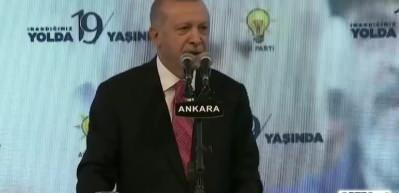 AK Parti'ye özel şiir! Başkan Erdoğan okudu