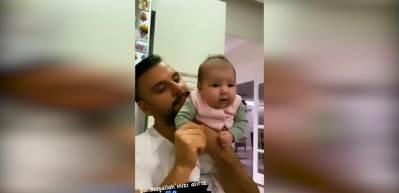 Alişan ve kızı Eliz'le beğeni rekoru kıran video!