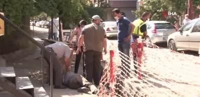 Alkollü olduğu iddia edilen kişi elektrik altyapısı için açılan kanala düştü