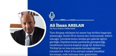 Ankara Milletvekili Ali İhsan Arslan'dan sesli mesaj