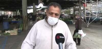 Ankara pazarlarında korona virüs tedbirleri etkili oldu
