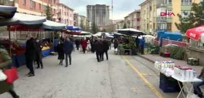 Ankara'daki pazarda 'tezgah mesafesi' ihlali