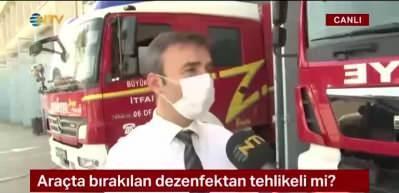 Araçta bırakılan dezenfektan tehlikeli mi?