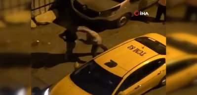 Ataşehir'de taksici tartıştığı alkollü müşterisini 2 yumrukla devirdi!