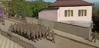 Azerbaycan askeri geçit sırasında Mehter Marşı çaldı!