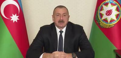 Azerbaycan Cumhurbaşkanı Aliyev, halka hitap etti