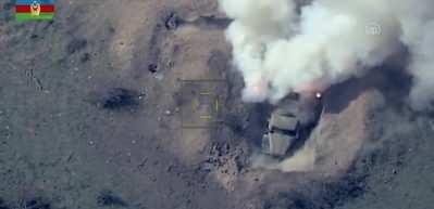 Azerbaycan ordusu, Ermenistan'a ait zırhlı araçları vurdu
