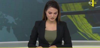 Azeri spiker haberi verirken gözyaşlarını tutamadı
