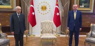 Başkan  Erdoğan-Bahçeli görüşmesi sona erdi