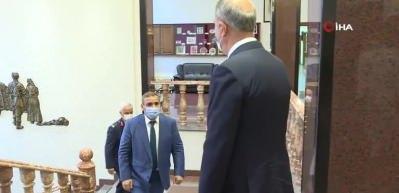 Bakan Akar, Libya Yüksek Devlet Konseyi Başkanı Halid el-Meşri ile görüştü