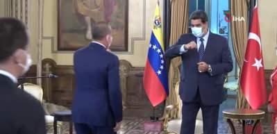 Bakan Çavuşoğlu, Venezuela Devlet Başkanı Maduro tarafından kabul edildi