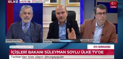 Bakan Soylu'dan Ülke TV'de son dakika açıklamalar