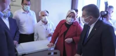 Bakanlar Soylu, Koca ve Selçuk, Sakarya'daki patlamada yaralananları ziyaret etti