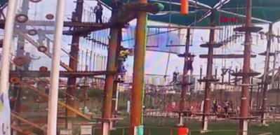 Başakşehir'de parktaki çocuk 5 metreden böyle düştü