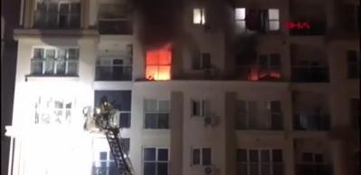 Başakşehir'de sitede yangın