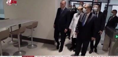 Başkan Erdoğan açılışını yaptığı Çam Sakura Hastanesi'nde incelemelerde bulundu