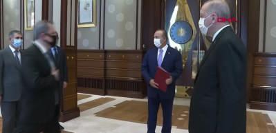 Başkan Erdoğan Azerbaycan Dışişleri Bakanı Ceyhun Bayramov'u kabul etti