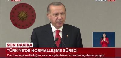 Başkan Erdoğan: Bayramda 81 ilin tamamında kısıtlama uygulanacak