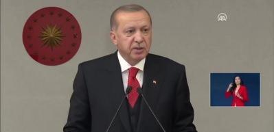 Başkan Erdoğan: Eli kanlı teröristlerle ittifak içine girenlerin yakasından milletimizin eli eksik olmayacaktır