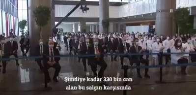 Başkan Erdoğan'dan Başakşehir Çam ve Sakura Şehir Hastanesi paylaşımı