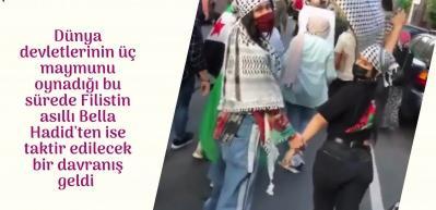 Bella Hadid İsrail'in Filistin halkına yaptığı katliama dayanamadı!
