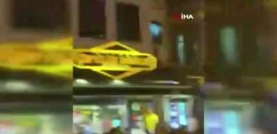 Beşiktaş çarşıda sandalyeler havada uçuştu