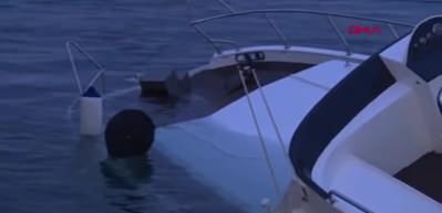 Beşiktaş'ta lüks gezi teknesi battı