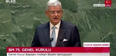 BM'nin 75'inci Genel Kurulu başladı: Volkan Bozkır'dan açılış konuşması